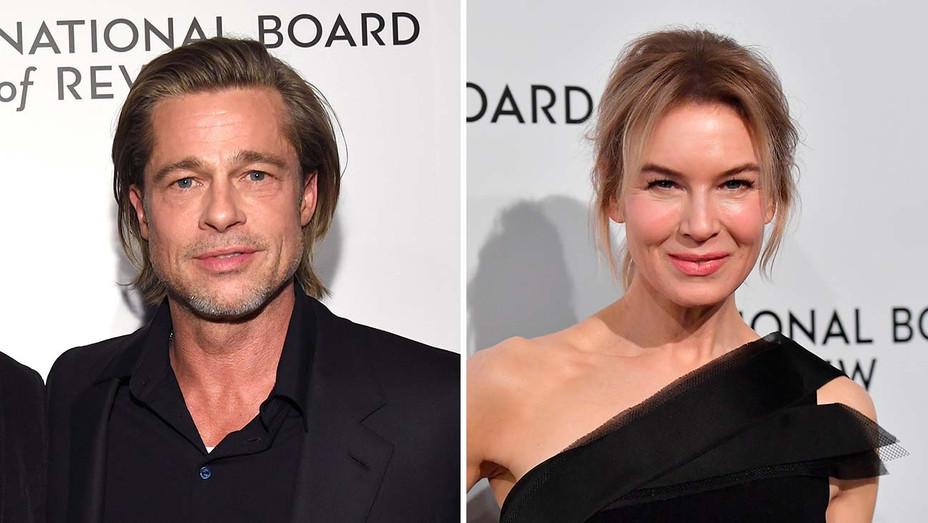 Brad Pitt and Renee Zellweger_Split - Getty - H 2020
