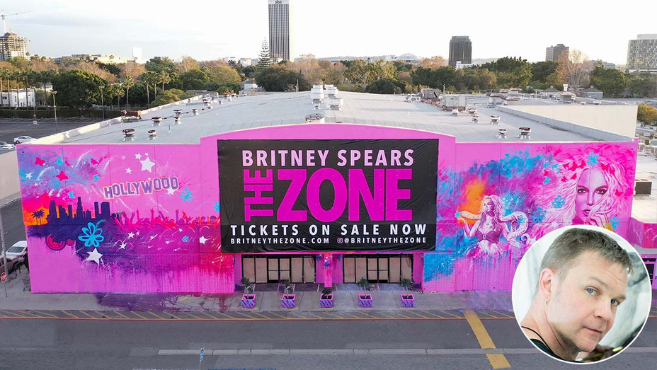 Britney Spears The Zone mural - artist Rob Prior - Publicity - Inset - H 2019