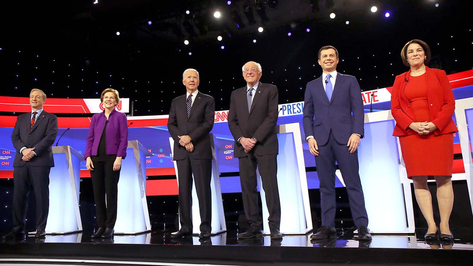 Democratic presidential primary debate 1-14_Candidates - Getty - H 2020