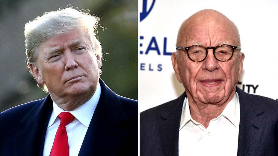 Donald Trump - Rupert Murdoch - Getty - Split - H 2020