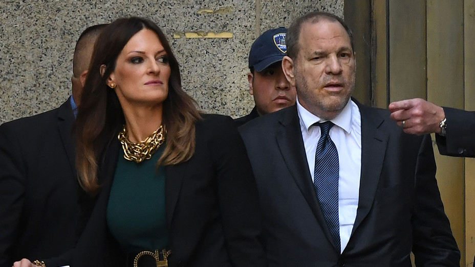 Lawyer Donna Rotunno and movie producer Harvey Weinstein depart from New York Supreme Court - Getty - H 2019