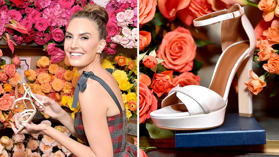 Elizabeth Chambers Hammer - the Launch of the Malone Souliers Red Carpet Capsule Collection - Getty - Split - H 2019