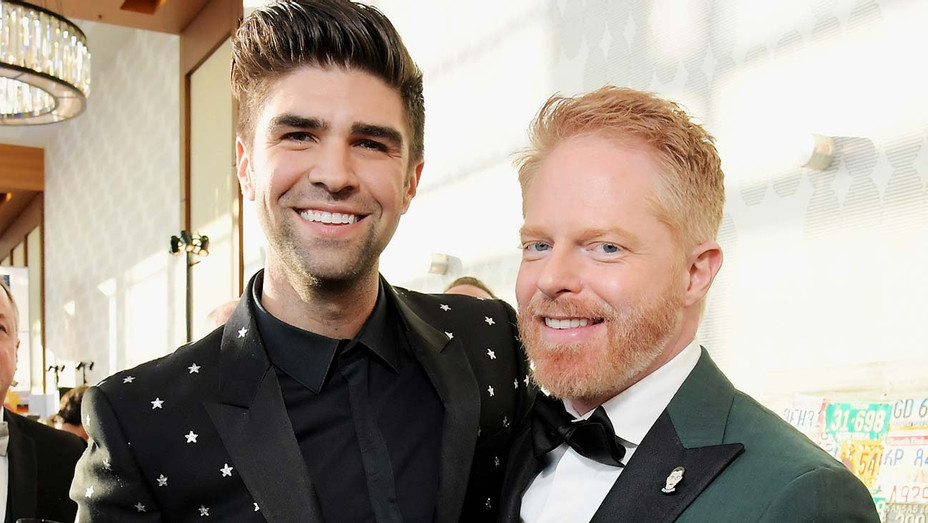 Justin Mikita and Jesse Tyler Ferguson attend The Human Rights Campaign 2019 - Getty-H 2020