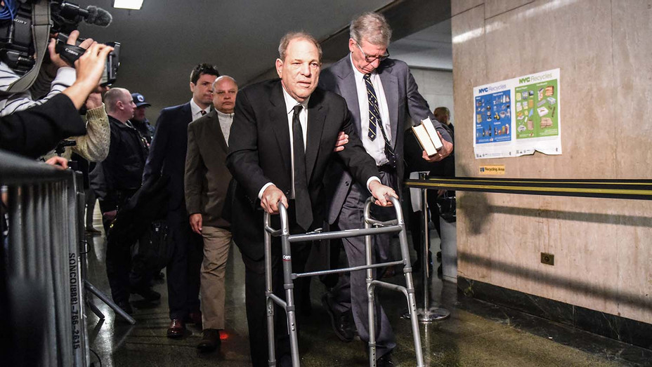 Harvey Weinstein walks to the courtroom in New York City criminal court on January 6, 2020 - Getty-H 2019