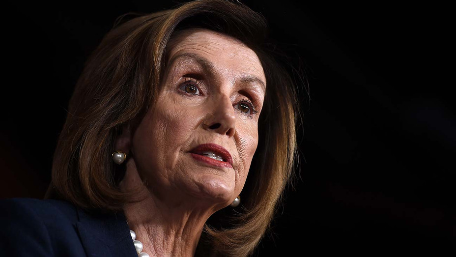 Nancy Pelosi speaks during her weekly press briefing on Capitol Hill, January 16, 2020 - Getty-H 2020