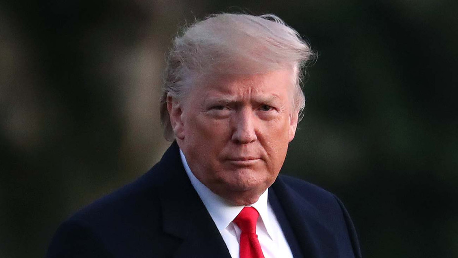 Donald Trump gestures while walking toward Marine One -December 18, 2019 - H 2020