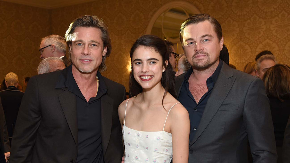 20th Annual AFI Awards - Brad Pitt, Margaret Qualley, and Leonardo DiCaprio - Getty-H 2019