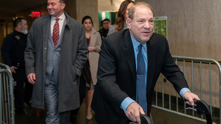 Harvey Weinstein arrives at Manhattan Criminal Court for his sexual assault trial on January 29, 2020 - Getty 2-H 2020