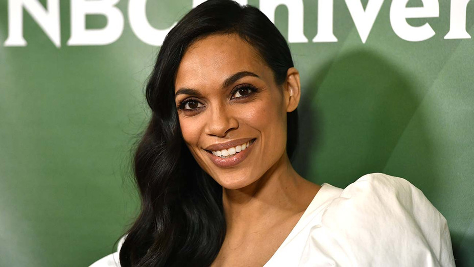 Rosario Dawson, attends the 2020 NBCUniversal Winter Press Tour 45 - Getty-H 2020