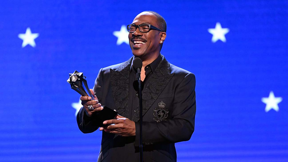 Eddie Murphy accepts the Lifetime Achievement Award onstage during the 25th Annual Critics' Choice Awards - H 2020