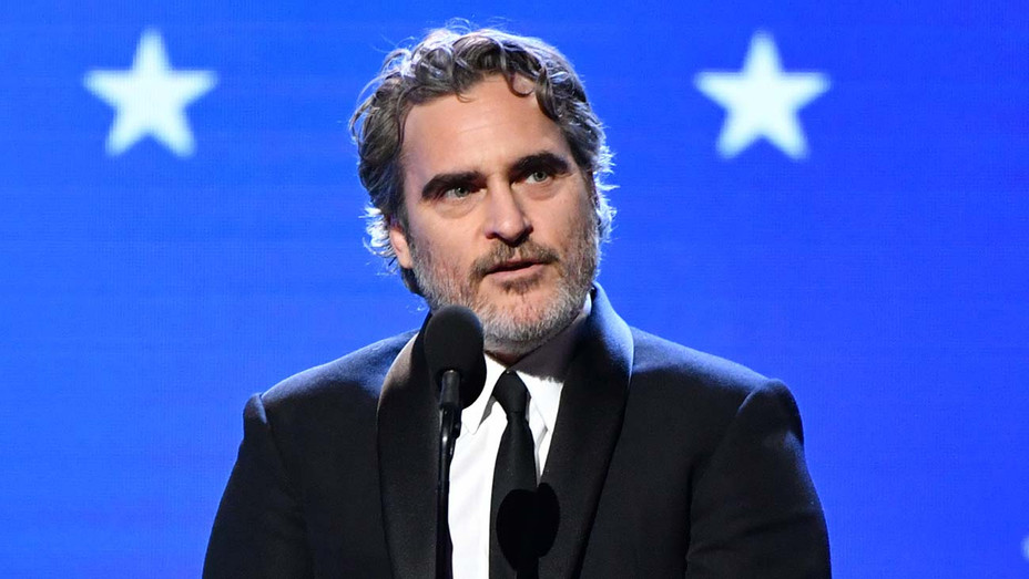 Joaquin Phoenix accepts the Best Actor award for 'Joker' onstage during the 25th Annual Critics' Choice Awards 2- H 2020