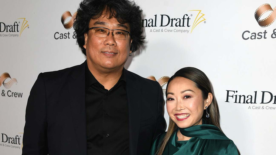 Bong Joon Ho and Lulu Wang arrive at the 15th Annual Final Draft Awards - Getty-H 2020