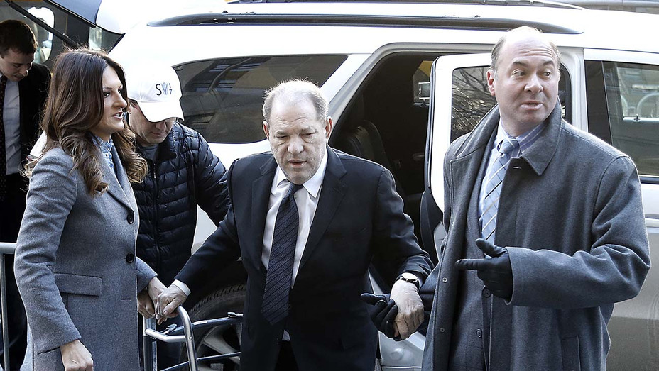 Harvey Weinstein arrives with his attorney Donna Rotunno to court January 22, 2020 in- Getty-H 2020