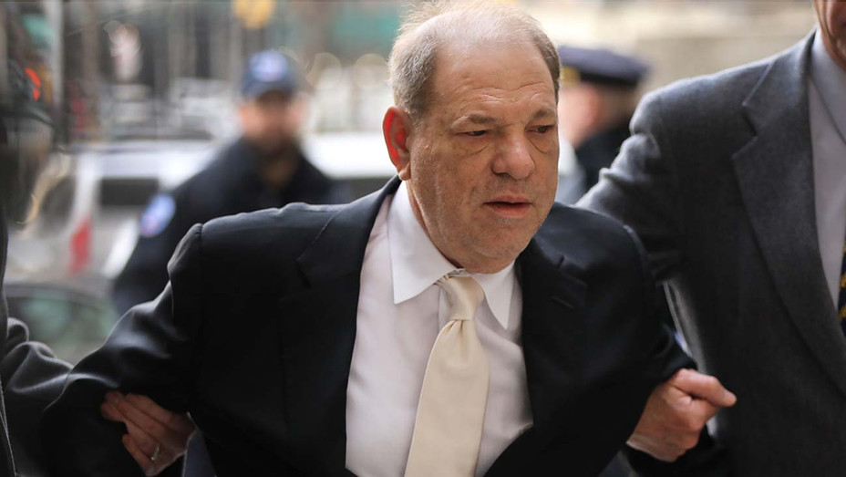 Harvey Weinstein arrives at Manhattan Supreme Court on January 23, 2020 - getty 2-H 2020