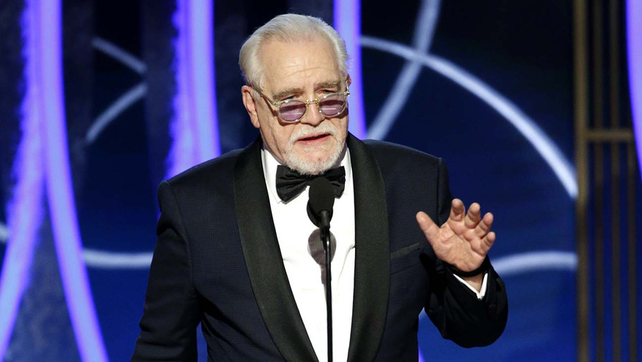 """Golden Globes 2020 - Brian Cox accepts the award for Best Actor - TV Series, Drama for """"Succession"""" - Publicity - H 2020"""