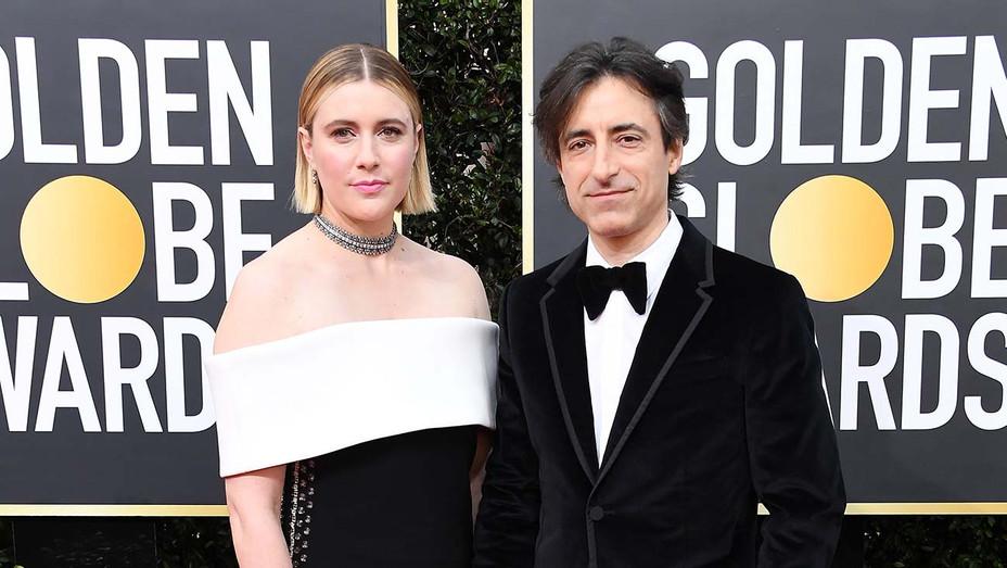 Greta Gerwig and Noah Baumbach_Golden Globes - Getty - H 2020