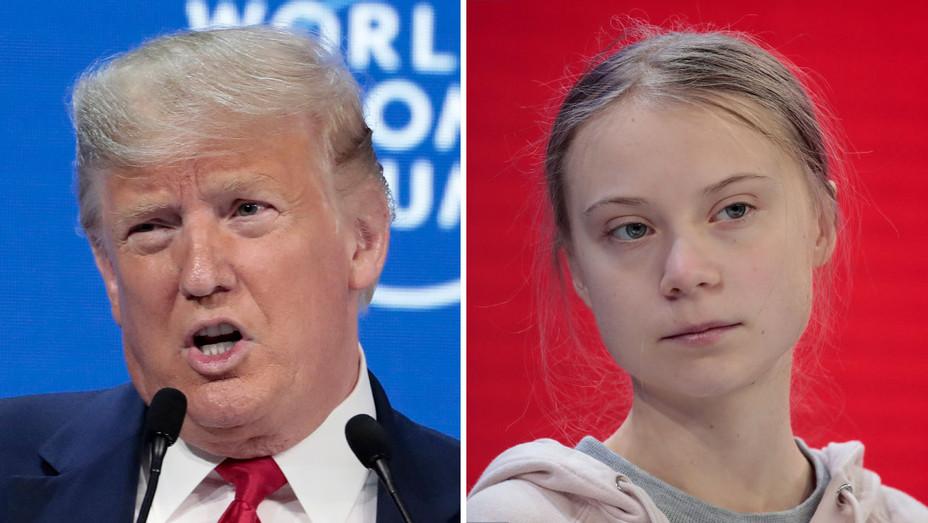 Donald Trump, Greta Thunberg Split - H Getty - 2020