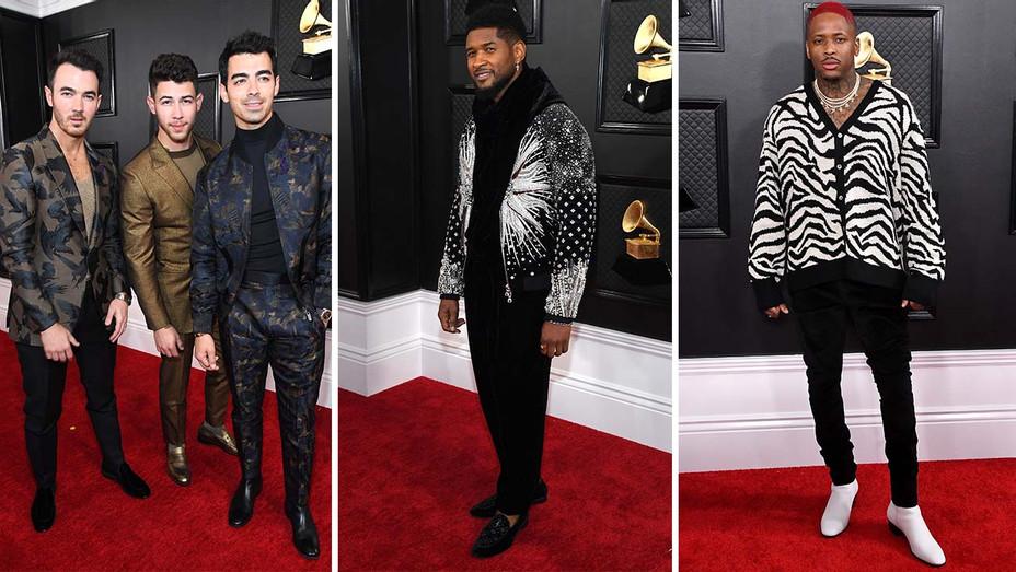 Jonas Brothers Usher and Split Grammy Award - Getty - H 2020