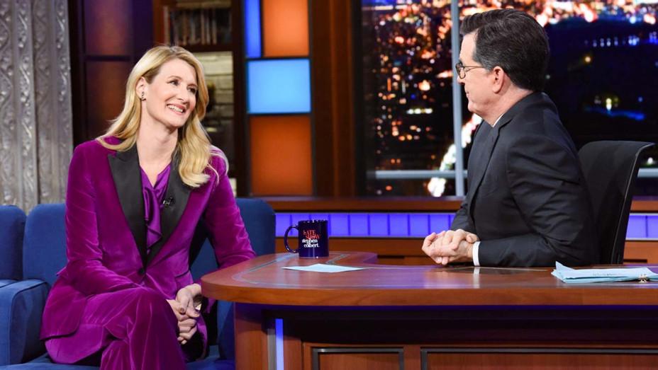Laura Dern and Stephen Colbert - H - 2019