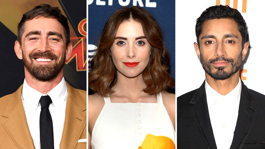 Lee Pace, Alison Brie and Riz Ahmed - Getty - Split - H 2020