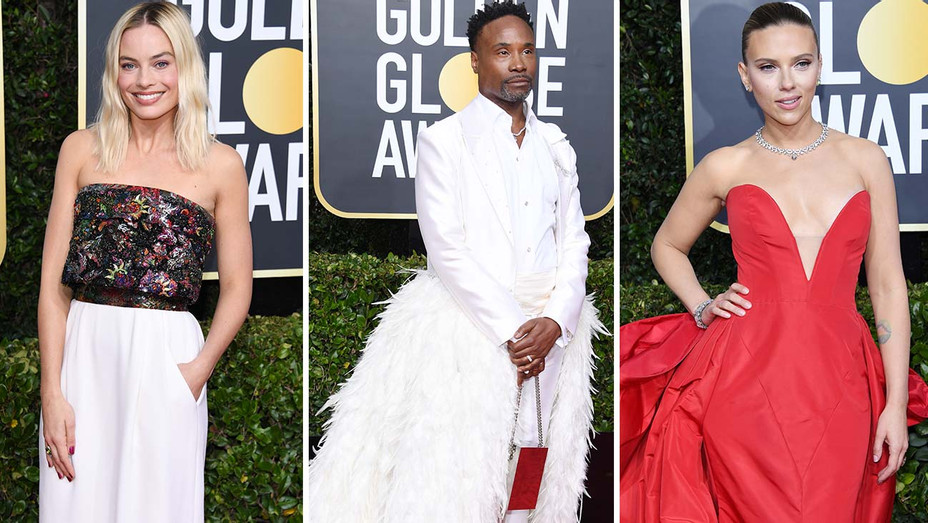 Margot Robbie Billy Porter Scarlett Johansson Split Golden Globes - Getty - H 2020