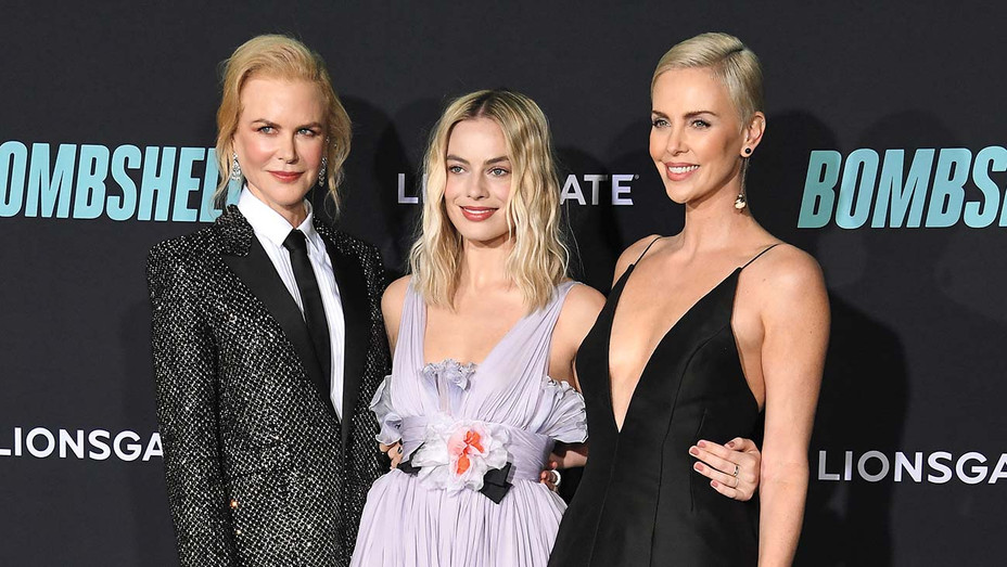 Nicole Kidman, Margot Robbie, and Charlize Theron_Red Carpet - Getty - H 2020