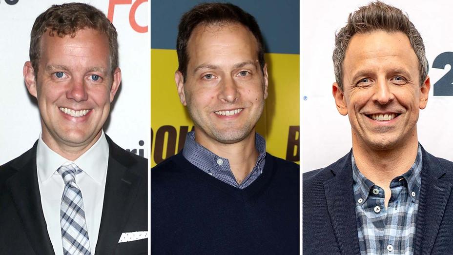 Matt Hubbard, Dan Goor and Seth Meyers - Split-Getty-H 2020
