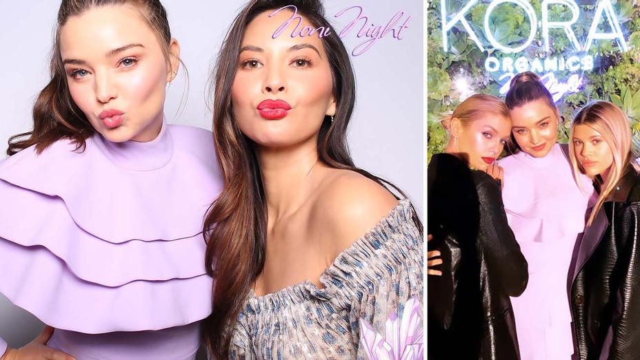 Kora Organics -Miranda Kerr and Olivia Munn and Stella Maxwell, Miranda Kerr and Sofia Richie - Split-H 2020