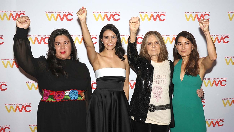 Monica Ramirez, Olga Segura, Gloria Steinem and Alex Martinez Kondracke - Getty - H 2020