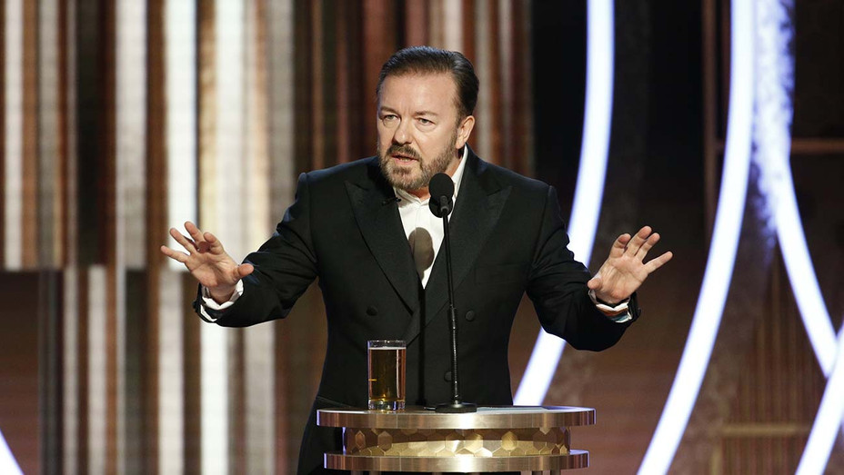 Ricky Gervais at the 77th Annual Golden Globe Awards - NBC Publicity 2-H 2019