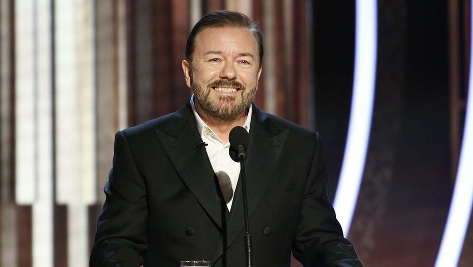 Ricky Gervais at the 77th Annual Golden Globe Awards - NBC Publicity-H 2019