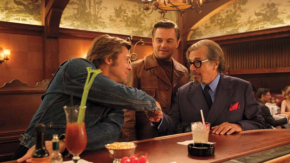 Brad Pitt, Leonardo DiCaprio and Al Pacino in Once Upon a Time in Hollywood - EMBED 2020