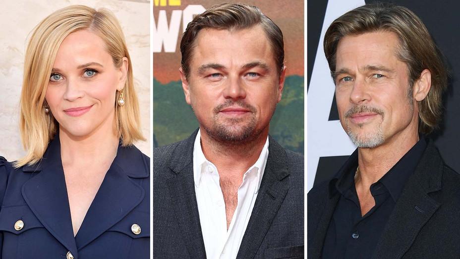 Reese W, Leo Dicaprio and Brad Pitt Split- Getty- H 2020