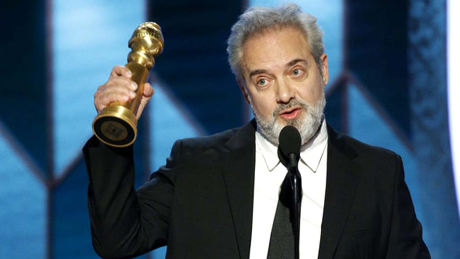 "Sam Mendes accepts the award for Best Director - Motion Picture for ""1917""  - Publicity - H 2020"