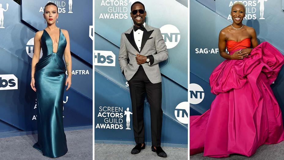 SAG AWARDS - Scarlett Johansson, Sterling K Brown,Cynthia Erivo - Split Getty-H 2020