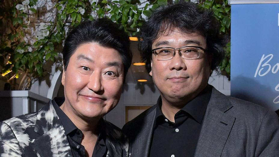 Song Kang-ho and Bong Joon-ho attend the 9th AACTA International Awards at Mondrian Los Angeles - Getty - H 2019