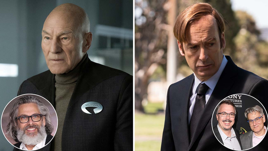 Star Trek Picard_Better Call Saul_Michael Chabon_Vince Gilligan and Peter Gould_Inset - Getty - H 2020