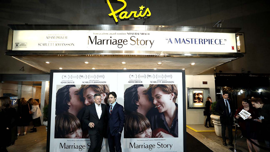 """Ted Sarandos and Noah Baumbach attend """"Marriage Story"""" New York Premiere - Getty - H 2020"""