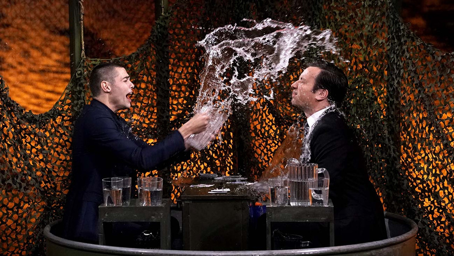 THE TONIGHT SHOW STARRING JIMMY FALLON - Noah Centineo - Water War - Publicity Still - H 2020
