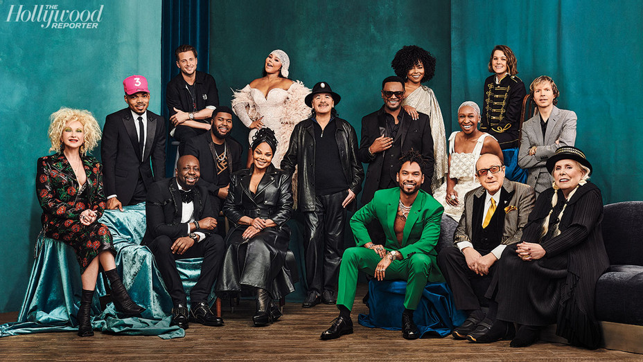 THR Clive Davis' Grammy Party_01_Group_0473 - THR - H 2020