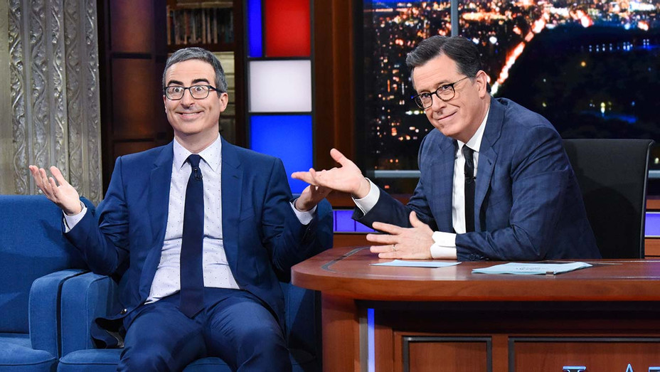 The Late Show with Stephen Colbert and guest  John Oliver during Monday\'s February 10, 2020 -H 2020