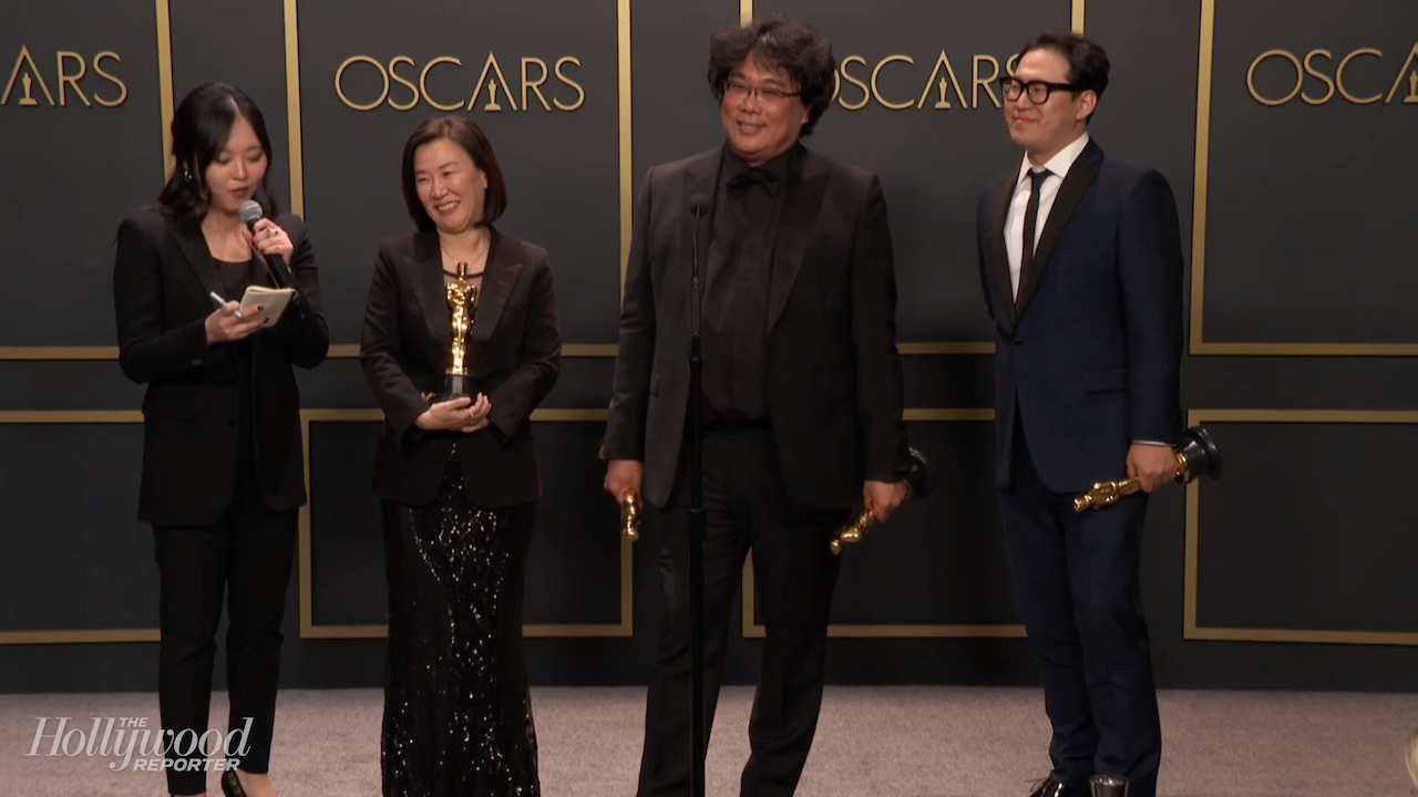 Bong Joon Ho Discusses Multiple 'Parasite' Wins Backstage at 2020 Oscars