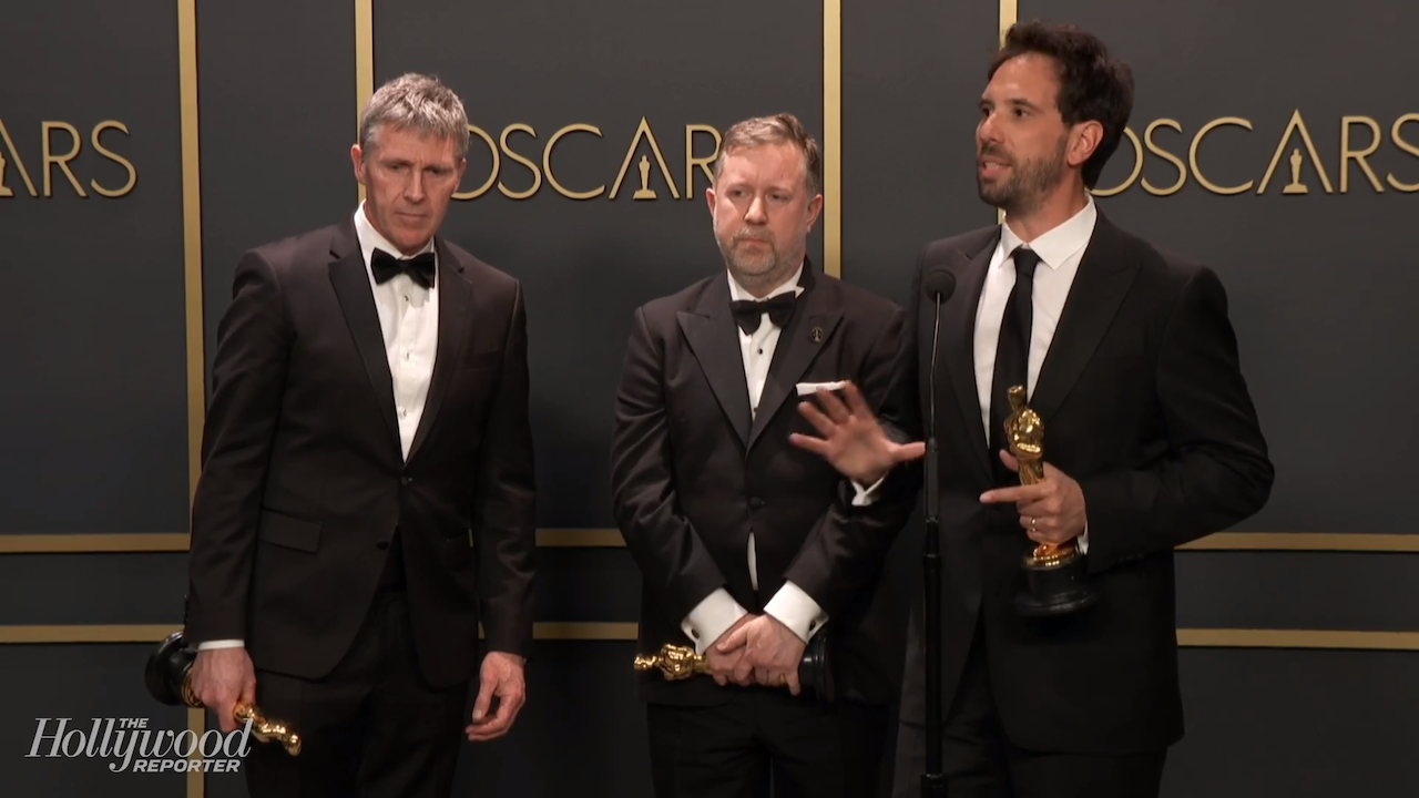 '1917' Team Discusses Best Visual Effects Win Backstage at 2020 Oscars