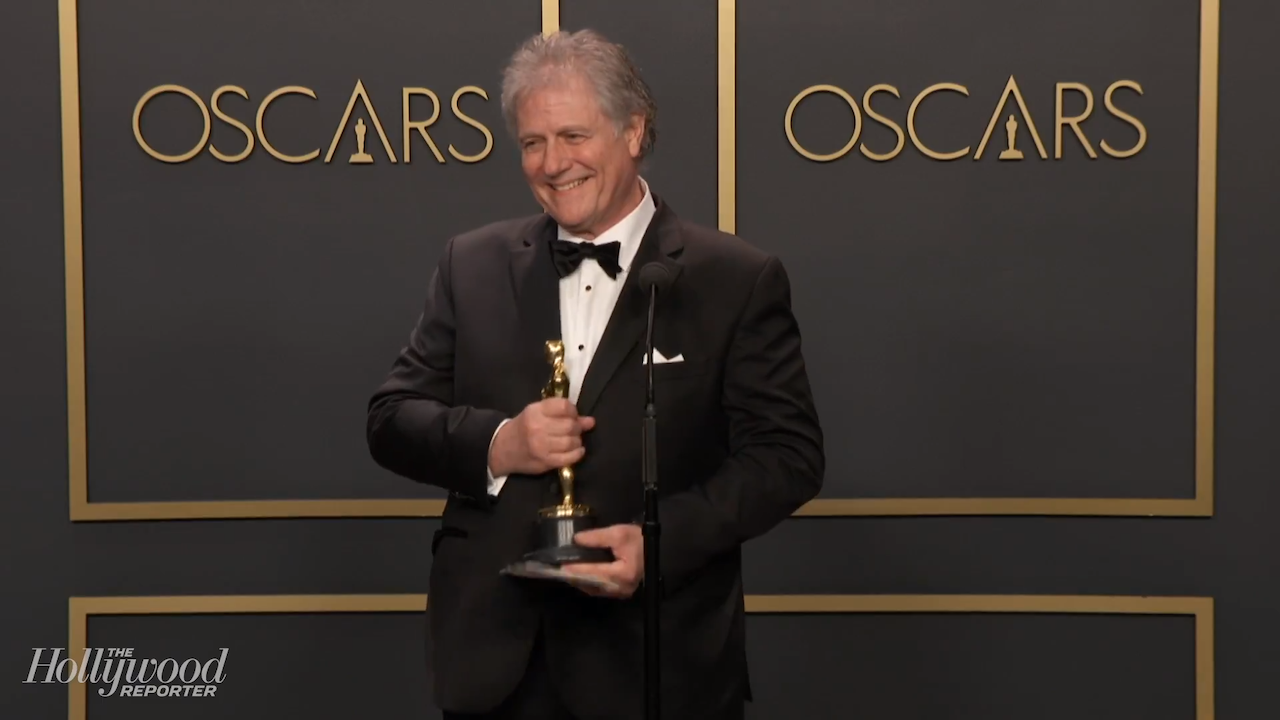 Donald Sylvester Discusses Best Sound Editing Win For 'Ford v Ferrari' Backstage at Oscars 2020
