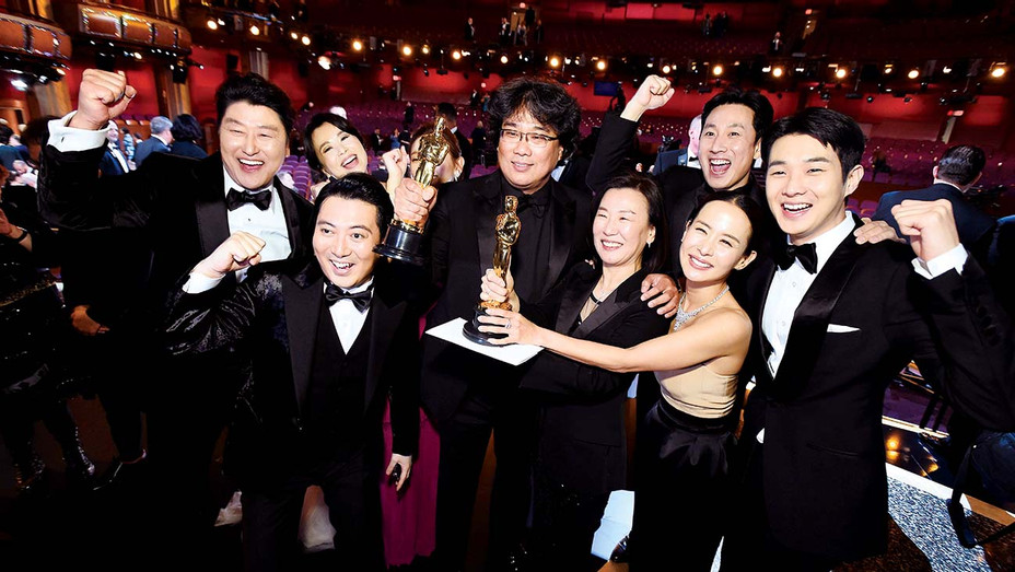 AMPAS_Best Picture Award winners for Parasite - Getty - H 2020