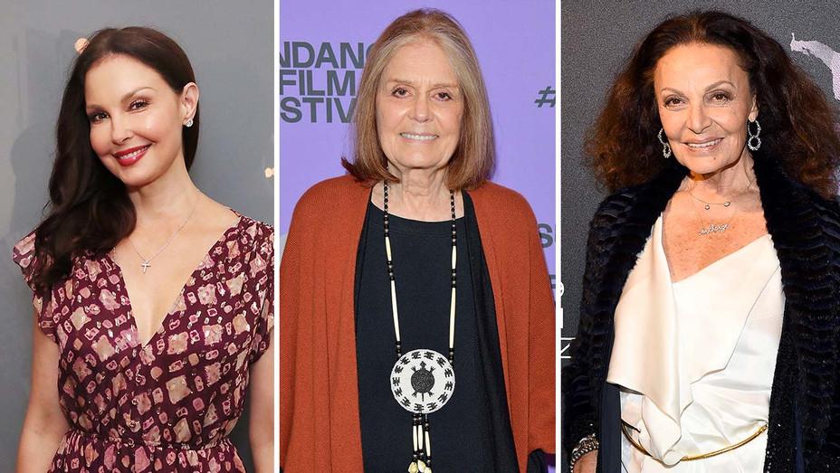 Ashley Judd, Gloria Steinem, Diane Von Furstenberg_Split - Getty - H 2020