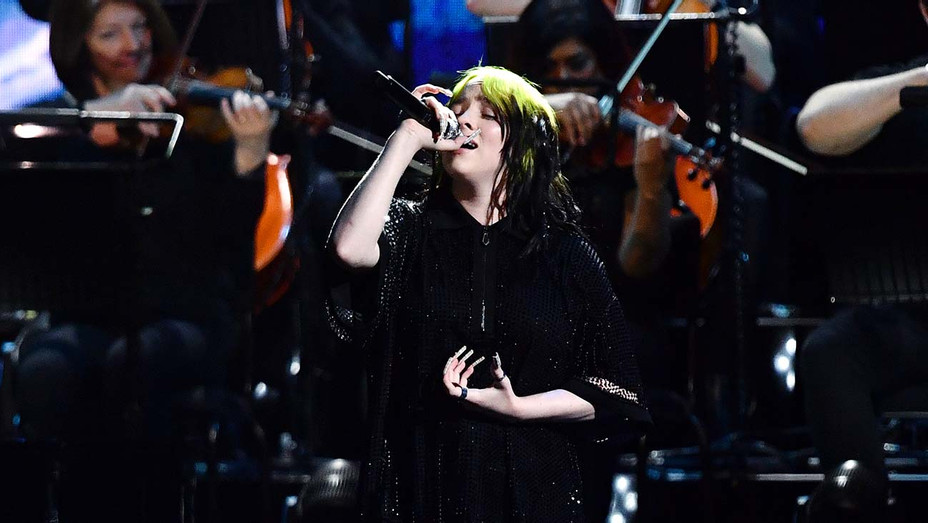 Billie Eilish performing Brit Awards - Getty - H 2020