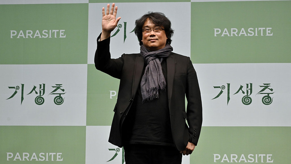 South Korean director Bong Joon-ho poses during a press conference in Seoul on February 19, 2020 - Getty - H 2020