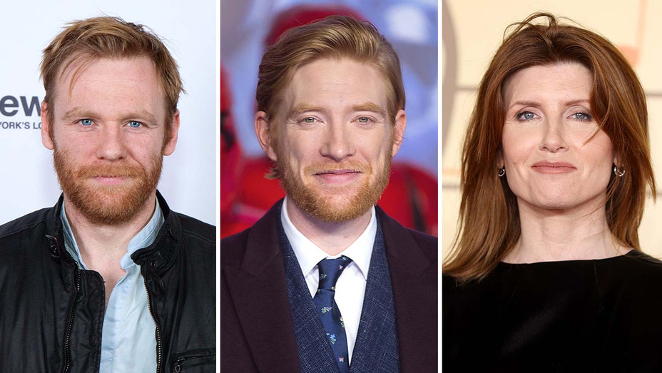 Brian Gleeson, Domhnall Gleeson and Sharon Horgan_Split - Getty - H 2020