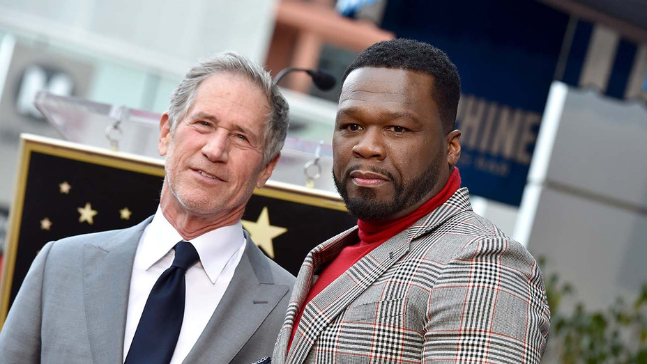 "Curtis ""50 Cent"" Jackson and Jon Feltheimer - Getty - H 2020"